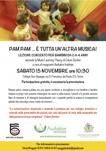 Lezione concerto a Torino il 15 novembre 2014